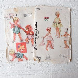 50s Toddlers' Patterns: Play Suit, Sunsuit, Jacket